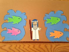 Crossing the Red Sea Craft - Kindergarten Craft - Bible Craft - Kids Craft - Moses Craft