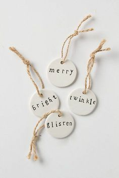 You can easily make these salt-dough gift tags to spruce up any Christmas wrapping.