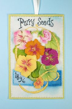 Perry Seed Annual Felt Ornament PDF Pattern by LolliDolls on Etsy