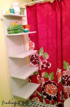 Bathroom Storage Shelf Tutorial