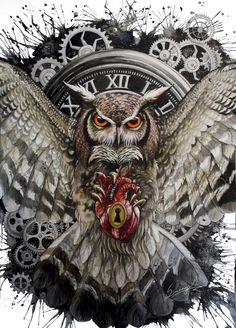 New eye third tattoo for men owl tat Ideas Bild Tattoos, Body Art Tattoos, Owl Tattoo Design, Tattoo Designs, Tattoo Ideas, Tatouage Haida, Graffiti Kunst, Owl Tattoo Drawings, Owl Artwork