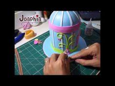 MOLDES : http://joaphiaartesecia.blogspot.com/2014/07/passo-passo-gaiola-decorativa-em-eva-3d.html VIDEO DA CONTINUAÇÃO: https://www.youtube.com/watch?v=A73Q...