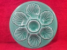Add this fabulous Mid-Century French Majolica Oyster Plate to your collection or home decor today! Offers welcome. www.mon-tatis-antiques.com