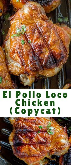 El Pollo Loco Chicken marinated in citrus and pineapple juice overnight for the . - El Pollo Loco Chicken marinated in citrus and pineapple juice overnight for the PERFECT El Pollo Lo - Turkey Recipes, Mexican Food Recipes, Chicken Recipes, Recipe Chicken, Great Recipes, Dinner Recipes, Favorite Recipes, Marinated Chicken, Chicken Marinate