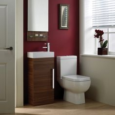 The Aquatrend Cloakroom Suite in walnut is a great option for en suites or and smaller spaces, combining minimal styling with lots of valuable storage, it is practical as well as looking good!