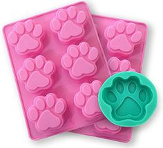 Silicone Molds for Baking  Barkery Pets Paw Print Pans 3pack Dog Treats For Pets Kids Doglovers BONUS Pdf Kitchen Tips Dog Recipes -- Click image to review more details.(This is an Amazon affiliate link)