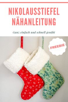 Nikolausstiefel Nähanleitung und Schnittmuster You can sew this great Santa Claus boot quickly and easily as you like and taste. For this we provide you with the free sewing pattern and the sewing ins Valentines Date Ideas, Valentines Day For Him, Valentine Day Gifts, Felt Christmas Decorations, Christmas Stockings, Sewing Patterns Free, Free Sewing, Pattern Sewing, Slider Card