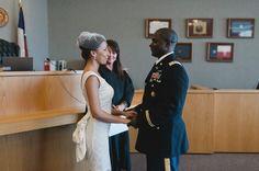Courthouse wedding - military style