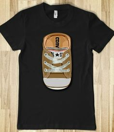 All Star Converse Brown casual Baby shoes woman girl fitted Tee Tshirt  #Tee #Tshirt #etsy #redbubble #skreened #AllStar #Converse #Retro #Geek
