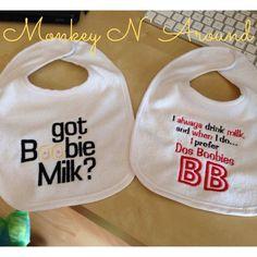 Breastfeeding bibs. Get yours at www.facebook.com/monkeynaroundcreations