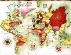 Map of the World, 1675 |via Burn the Night Away