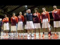 VA Tech Basketball Team Practices National Anthem  #TechTalk: Our National Anthem | CoachBuzzWilliams.com