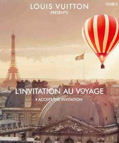 Louis Vuitton L'Invitation Au Voyage Interactive 300x600. Love.
