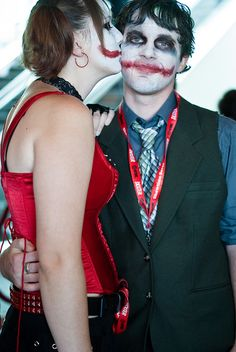 Harley Quinn Kissing the Joker by sdoorly, via Flickr