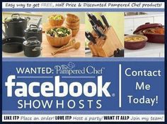 Contact me today Let's set up your ONLINE Pampered Chef Party! You get a 60% discount for hosting! Email me now!
