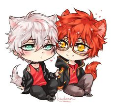 Saeran (Unknown) and Saeyoung (Luciel/Seven/707/Defender of Justice)