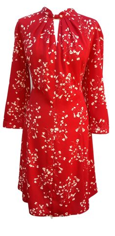 f1823a00 Phase Eight Carolina Floral dress in red Size 16 worn once. Carobethany Ltd