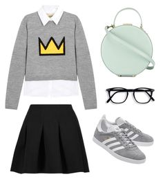 """""""Geeky Prep"""" by mali-likes ❤ liked on Polyvore featuring T By Alexander Wang, Alice + Olivia, adidas Originals and Tammy & Benjamin"""
