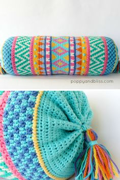 Vivo Bolster Cushion Crochet Pattern