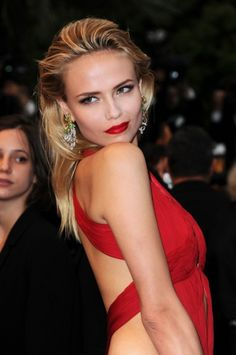 Natasha Poly- red cut out dress