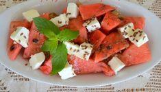 Παξιμαδάκια λαδιού με γκαζόζα - cretangastronomy.gr Caprese Salad, Fruit Salad, Feta, Watermelon, Cheese, Fruit Salads, Insalata Caprese