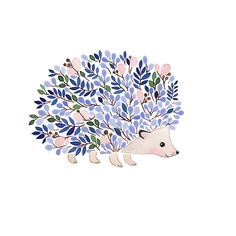 Winter Dusk floral hedgehog Art and illustration by Anna Emilia Art Inspo, Inspiration Art, Art Mignon, Art Et Illustration, Hedgehog Illustration, Floral Illustrations, Art Design, Oeuvre D'art, Cute Art