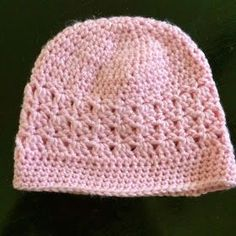 """Crochet Chemo Cap - Free Pattern yarn crochet hook Finished size laying flat: 9 ¼"""" wide, 7 ½"""" tall If you'd like to buy thi. Crochet Chemo Cap - Free Pattern yarn crochet hook Finished size laying flat: 9 ¼"""" wide, 7 ½"""" tall If you'd like to buy thi. Crochet Adult Hat, Bonnet Crochet, Crochet Beanie Pattern, Knit Or Crochet, Crochet Hooks, Crochet Stitches, Free Crochet, Hat Patterns, Do It Yourself"""