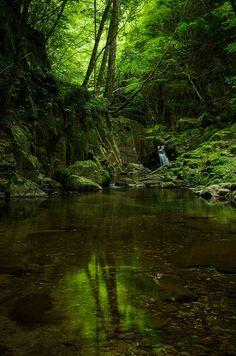 Akame Shijyu-hachi Waterfall in Mie, Japan