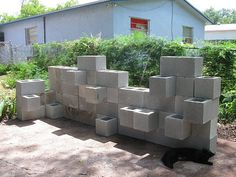 Planter of center blocks with instructions and w/out cutting!