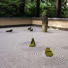Japanese Gardens, sand and rock garden