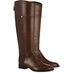 Pre-owned Tory Burch Juliet Riding Almond Boots ($241) ❤ liked on Polyvore featuring shoes, boots, almond, zipper boots, brown knee high riding boots, leather riding boots, leather upper boots and zip up boots