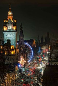 Night falls in Edinburgh, Scotland. Edinburgh regularly polls as one of the best places to live, having won more than 12 UK Best City Awards in 8 years to Places Around The World, Oh The Places You'll Go, Places To Travel, Places To Visit, Around The Worlds, Visit Edinburgh, Edinburgh Scotland, Scotland Uk, Scotland Travel