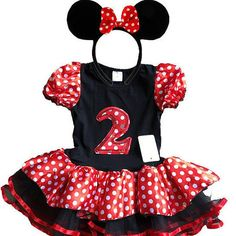 Hey, I found this really awesome Etsy listing at https://www.etsy.com/listing/460465486/minnie-mouse-red-birthday-dress-2-year
