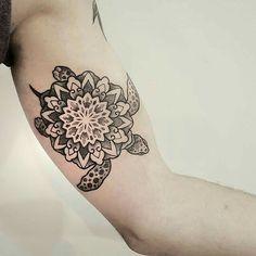 Mandala turtle tattoo ❤