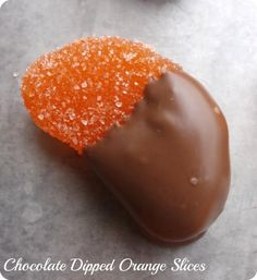 Chocolate Dipped Orange Slices