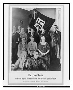Dr. Goebbels and the first co-workers in the Berlin gau (1927)