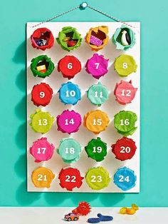 Holiday Crafts for Kids Prize Surprise! Add a dose of color and whimsy to your Christmas countdown with this punch-out Advent calendar. Add a dose of color and whimsy to your Christmas countdown with this punch-out Advent calendar. Kids Crafts, Holiday Crafts For Kids, Christmas Activities, Holiday Fun, Christmas Holidays, Christmas Crafts, Christmas Decorations, Christmas Ideas, Happy Holidays
