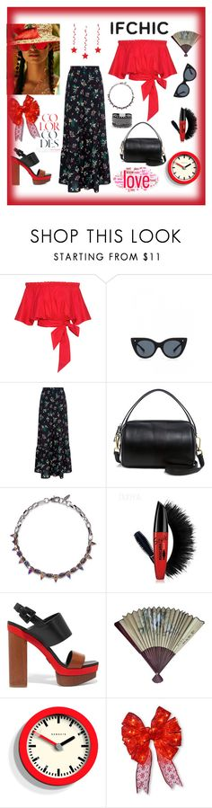 """""""IFCHIC"""" by explorer-14673103603 on Polyvore featuring Saloni, Le Specs Luxe, RED Valentino, 10 Crosby Derek Lam, Joomi Lim, Michael Kors, Imm Living, National Tree Company and White House Black Market"""