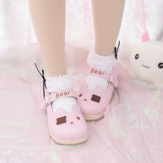 .Mori Preppy Spring Patch Shoes Cute Bear Sneaker the best choice for you to go out or work !