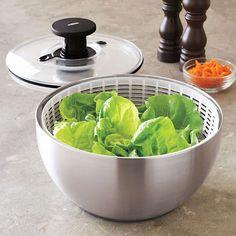 OXO SteeL Salad Spinner    Sur La Table