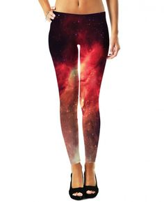 Epic Gurl Crimson Nebula Leggings