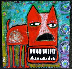 """Awesome """"modern abstract art painting"""" info is offered on our web pages. Take a look and you wont be sorry you did. Abstract Animals, Abstract Art, Painting Inspiration, Art Inspo, Graffiti, Funky Art, Naive Art, Dog Paintings, Whimsical Art"""
