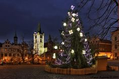 Christmas in the Czech Republic. Litoměřice and Christmas tree Time Of The Year, Czech Republic, Winter Wonderland, Christmas Time, Holiday Decor, World, The World, Bohemia