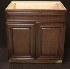 Photos On Kraftmaid Kaffee Cherry Kitchen Base Cabinet Could B used as Bathroom Vanity Kraftmaid
