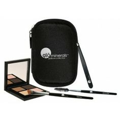 Wow Your Brows! Go from arch enemy to an architectural masterpiece with glominerals' new Brow Collection (Brown), a kit designed to help you create the perfect brow.   Collection includes: 4 brow stencils, brow powder duo, spoolie brush, brow wax, tweezers, highlighter, angled brow brush