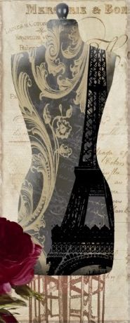 Vintage Seamstress Dress Form, Paris Poster