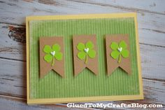 St Patrick's Day Cards {Crafts}