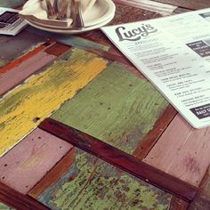 tables at Lucy's Fried Chicken via Anthopologiecom Instagram