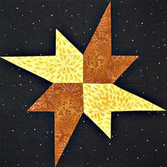Starwood Quilter: Galaxy Star Quilt Block