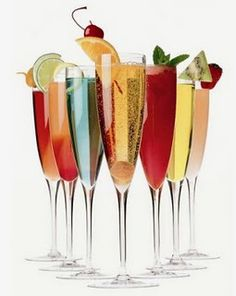 Bellini! Prosecco (champagne) + peach puree (tried a splash of peach nectar). I'm going to try it with different fruits!